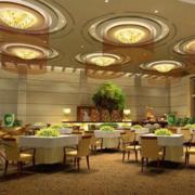 欧式豪华餐厅装修效果图