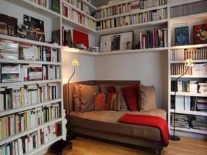 两室一厅淡雅书香书房装修效果图