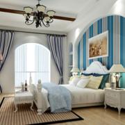 卧室窗帘装修效果图