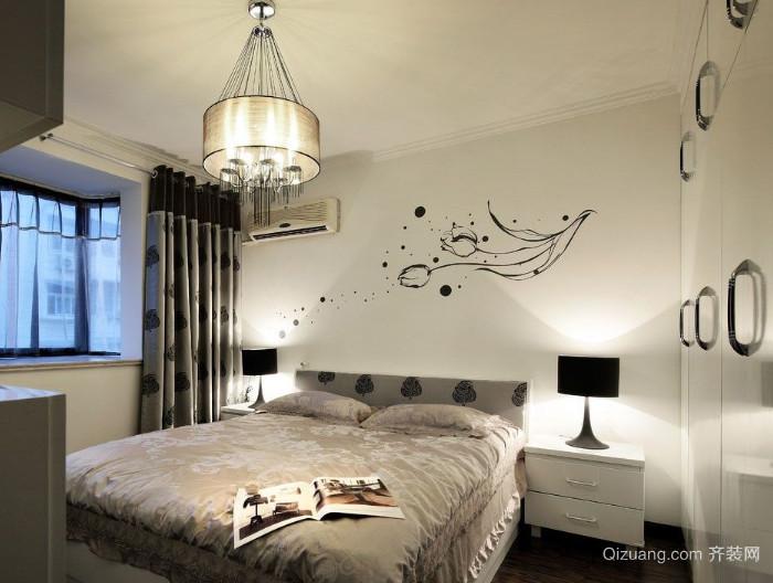 三室一厅现代简约风格卧室装修效果图