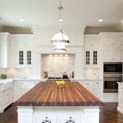 纯白厨房设计效果图