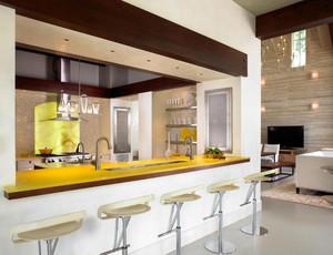 2015别墅开放式厨房装修效果图