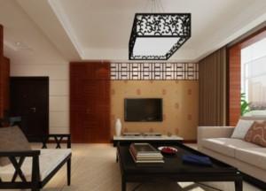 精美复古中式木雕电视背景墙装修效果图