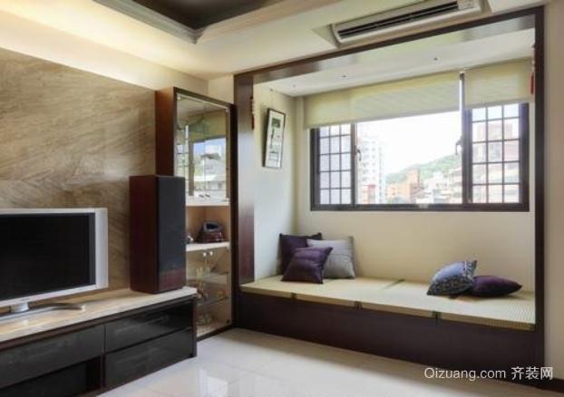 70平米现代简约日式客厅装修效果图