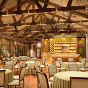 欧式餐厅吊顶效果图