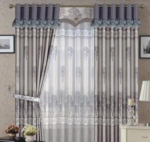 地中海风格客厅隔音窗帘效果图