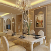 欧式餐厅桌椅设计