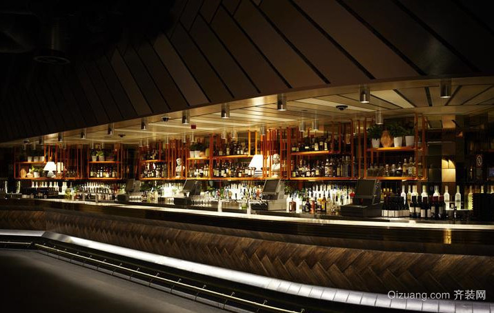 2015摇滚酒吧吧台装修设计效果图