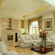 淡色客厅装修效果图