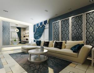 地中海风格明亮清新的客厅装修效果图