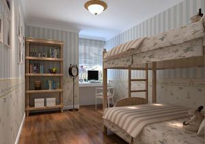 清新的小世界田园儿童房装修效果图大全
