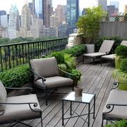 空气清新的阳台花园