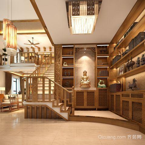气质独特的的东南亚风格楼梯设计装修效果图鉴赏