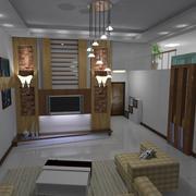 客厅经典电视柜效果图