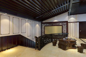 中式实木楼梯设计