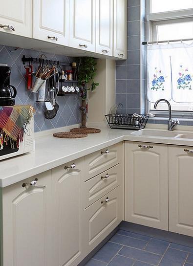 6平米 地中海风格 厨房 地板砖装修效果图