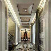 欧式客厅走廊地板砖