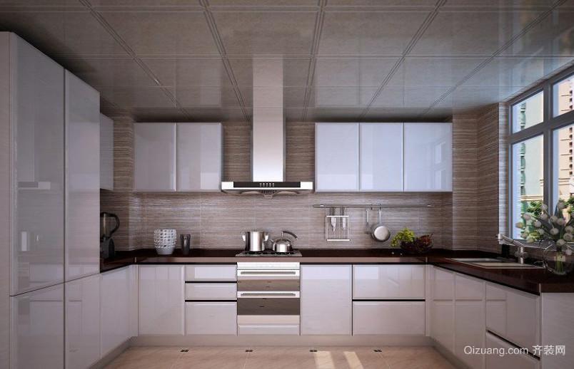 2015大户型欧式厨房整体橱柜装修效果图