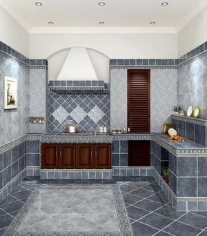 6平米地中海风格厨房地板砖装修效果图