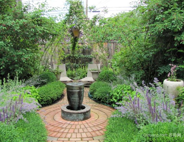 芳草鲜美的新中式别墅庭院装修图