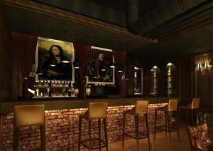 放松心情的现代酒吧吧台椅装修设计效果图
