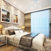 多彩的卧室床头背景墙设计