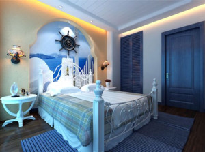 精致蓝色卧室设计