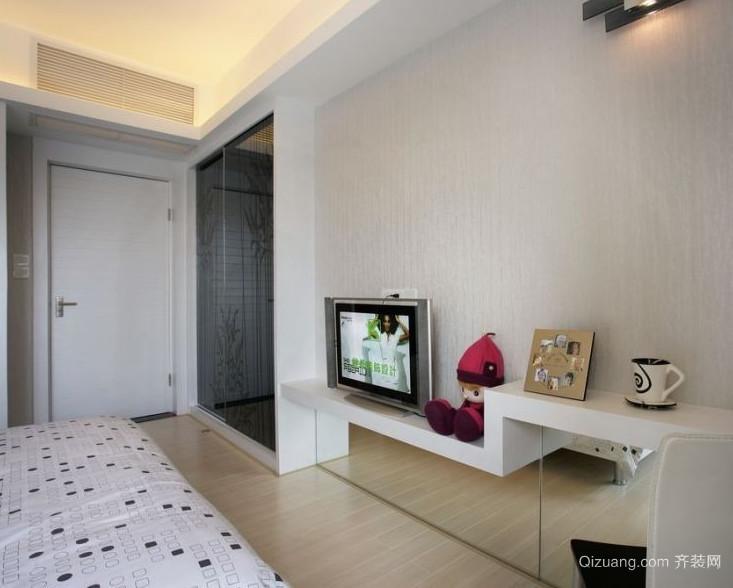 2015大户型简约大气卧室背景墙装修效果图