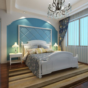 梦幻般简约大方地中海风格卧室装修效果图