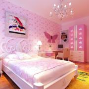 粉红色儿童房设计