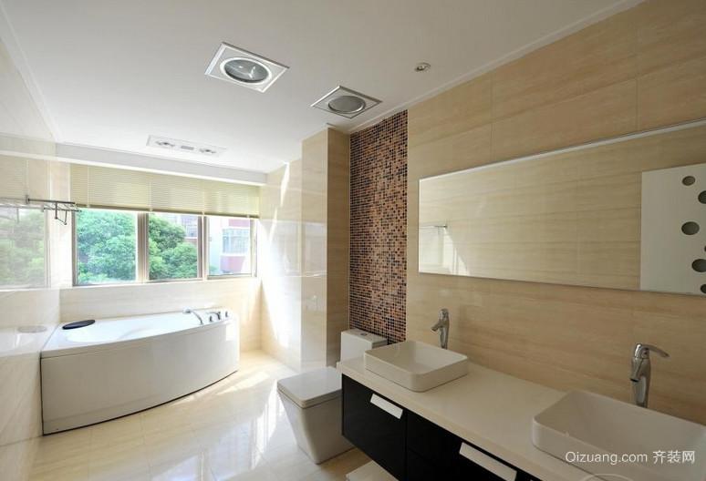 清爽利落的公寓卫生间设计装修效果图大全
