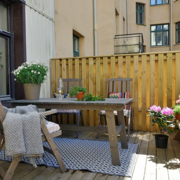 温暖舒适的阳台花园