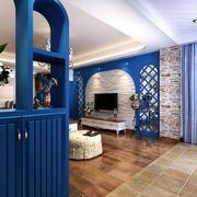 地中海风格客厅地板设计