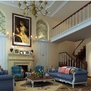 客厅内部油画设计