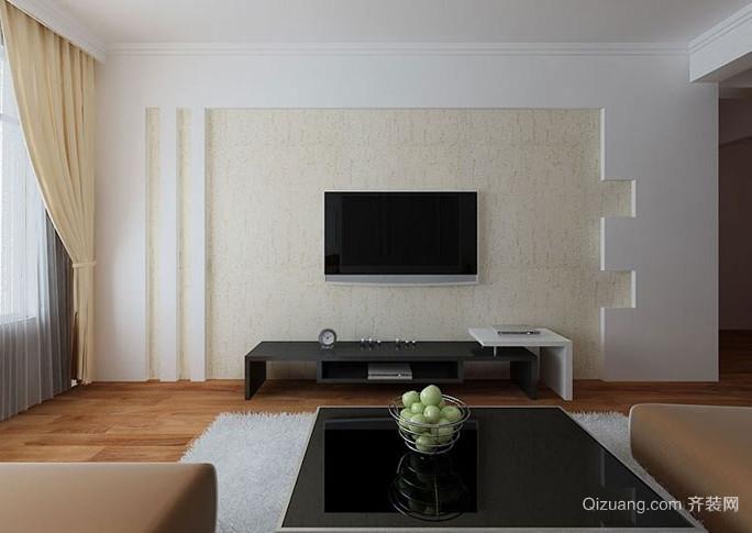 小户型硅藻泥电视背景墙