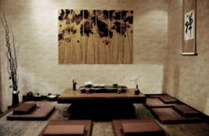 100平米日式禅意茶艺空间装修效果图
