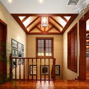 暖色楼梯设计效果图
