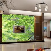 清新舒适电视背景墙