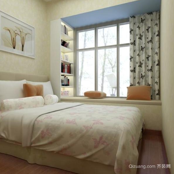 两室一厅温馨浪漫卧室飘窗装修效果图
