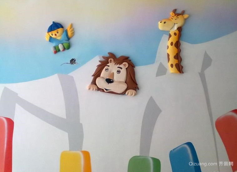2015全新幼儿园壁画装修效果图
