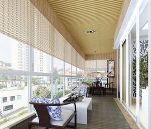 休闲阳台生态木吊顶装修效果图