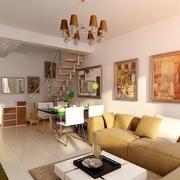 现代舒适客厅楼梯