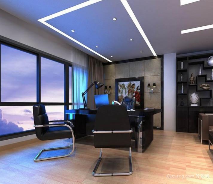 简约实用的现代都市办公室装修效果图