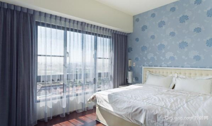 两室一厅经典美式简约卧室装修效果图