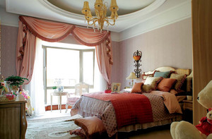 120平米大户型奢华风格卧室背景墙装修效果图鉴赏