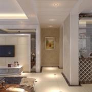欧式大户型客厅走廊