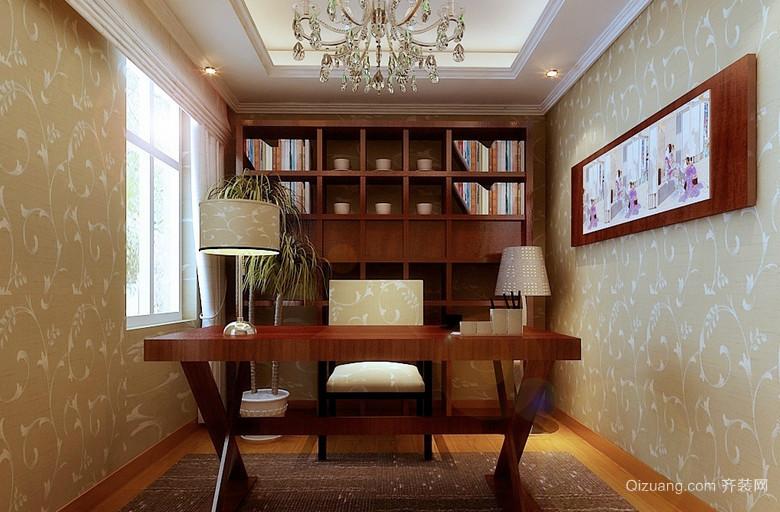 2015新时代东南亚书房装修效果图