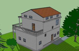 独具匠心地中海风格农村自建房设计图