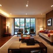暖色调客厅背景墙