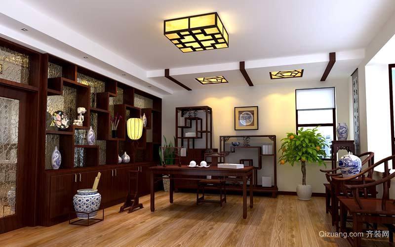 2015新中式书房装修效果图